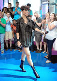 Rihanna shows legs at MTV's Total Request Live