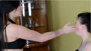 Hunt Erotic: Faceslapping -By Domina Emilia And Her Slave Miranda