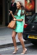 Rochelle Wiseman Leaving the Mayfair Hotel in London 21st March x9
