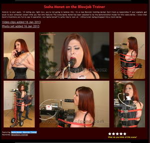 House of Gord: Sasha Monet on the Blowjob Trainer